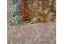Paisley Sequins Lace Fabric
