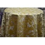 Jacquard Floral, Fabric, Color Gold Fabric, sold By the Yard, 58