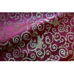 Jacquard Fabric Color Burgundy Fabric sold By the Yard, 58