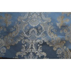 Jacquard Damask, Color Sky, Fabric sold By the Yard, 58
