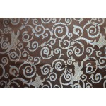Jacquard Fabric Color Chocolate, Fabric sold By the Yard, 58