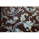 Jacquard Floral, Fabric, Color Chocolate Fabric, sold By the Yard, 58