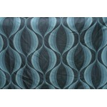 DEVOTION, Contemporary  -Jacquard Fabric, Color Turquoise, 60