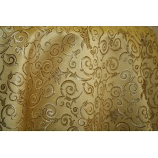 Jacquard Fabric Color Gold, Fabric sold By the Yard, 58