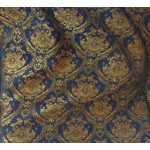 Chenille Imperial collection,  Home Decor Upholstery,Color Blue/Gold,  Sold By the Yard