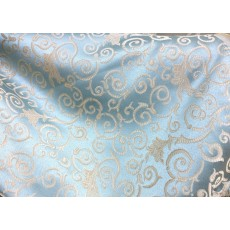 Jacquard Fabric Color Sky, Fabric sold By the Yard, 58