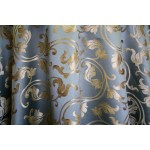 Jacquard Floral, Fabric, Color Sky Fabric, sold By the Yard, 58