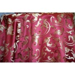 Jacquard Floral, Fabric, Color Burgundy Fabric, sold By the Yard, 58